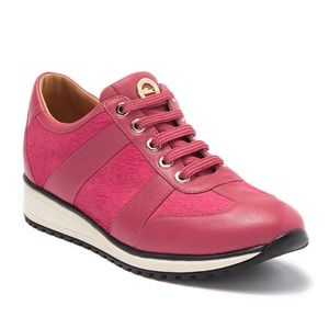 LONGCHAMP Genuine Calf Hair & Leather Sneakers